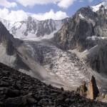 Ледник Ак-Сай с тропы на Учитель